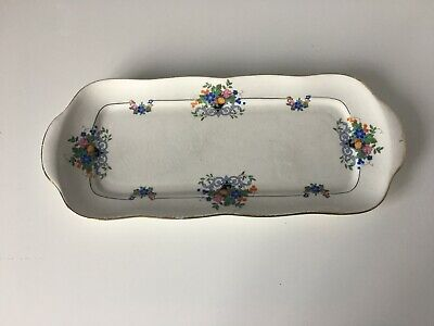 Carlton Ware Sandwich Plate With Flower Decoration • 3£