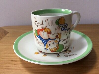 Midwinter Peggy Gibbons Nursery Cup & Saucer Jack And Jill, Georgie Porgie • 3.10£