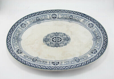 Rare Antique Big Plate Fully Stamped EMPRESS Blue And White Coloure  • 8£