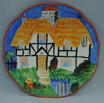 Hancocks Ivoryware Country Cottage Plate - 21.2cm Diameter - Weighs 362g • 25£