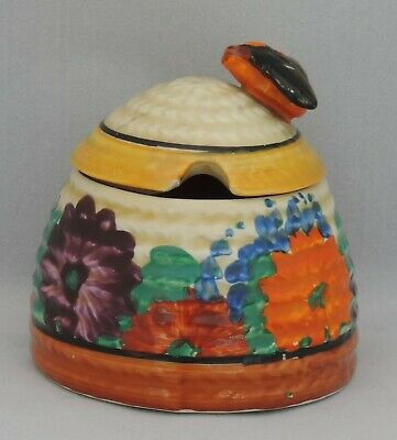 Clarice Cliff Honey Pot And Lid - Marked Gayday • 200£