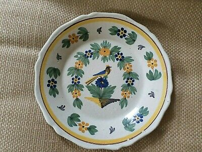Antique Faience Earthenware Plate • 150£