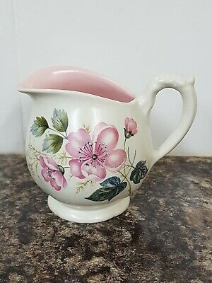Very Pretty Vintage Cream Jug Axe Vale Pottery Devon Wild Rose Design  • 5£