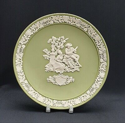 Wedgwood Sage Green Jasperware Limited Edition Valentines Plate 1986  • 39.95£