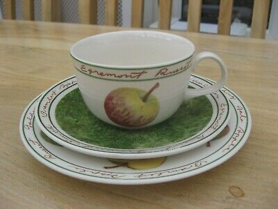 ROYAL STAFFORD APPLE CUP SAUCER And PLATE TRIO • 8.99£