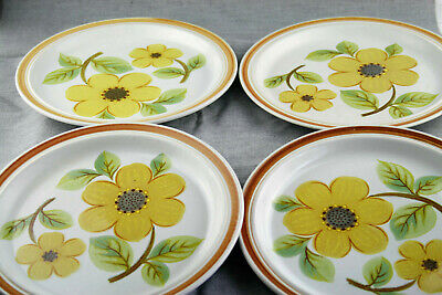 Summer Days LS1002 Lambeth Retro Style 1973 4 Dinner Plates ROYAL DOULTON  • 14£