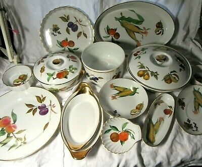 Royal Worcester EVESHAM Tableware JOB LOT Collect WN5 - Dishes Bowls Serving • 29.99£