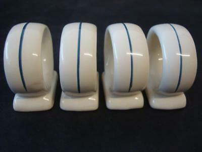 Boots Camargue 4 X Napkin Rings • 5.99£