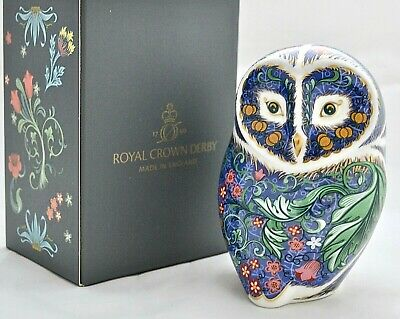 Royal Crown Derby *periwinkle Owl* New Bird Paperweight - '1st' Quality • 120£