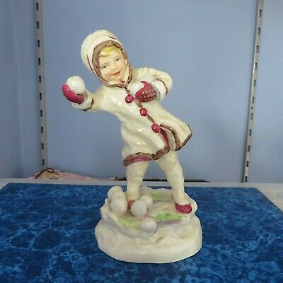 Royal Worcester 'December' Figurine 3458, By FG Doughty   • 29.99£