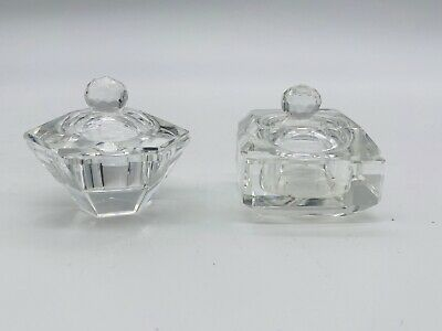 STUNNING Crystal Salts With Lids - All Around 2 Inches • 28£