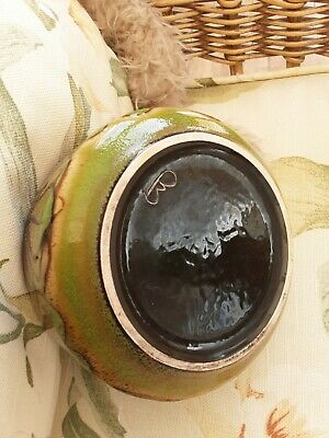 Vintage Poole Pottery  Aegean Decorative  Small Bowl Greenss And Brown • 7.99£