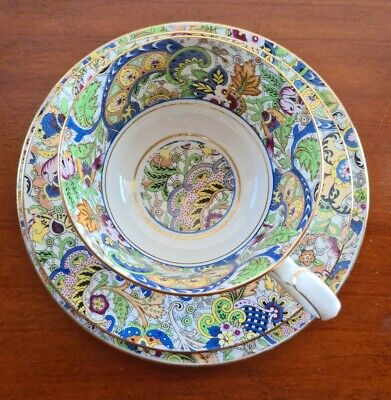 Rare Vintage Paragon Star Paisley Trio, Plate, Saucer And Cup  1923-33. • 45£