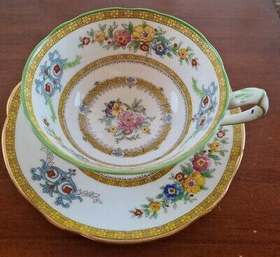Vintage Paragon Star China Demitasse Cup And Saucer Circa 1930s • 15£
