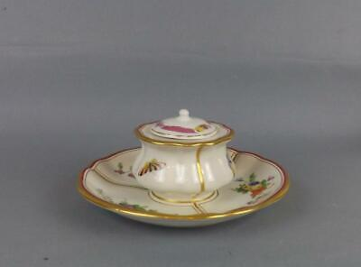 Antique German Porcelain Inkwell By Berlin KPM Factory Circa 1860 • 0.99£