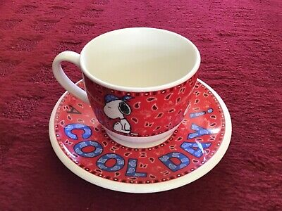 Retro Vintage Snoopy Large  Cup And Saucer • 5£