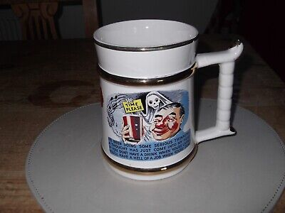 PRINCE WILLIAM Ware * Vintage Pottery Tankard * - 'TIME PLEASE' 22 Carat Gold • 2.99£