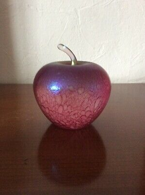 Ditchfield Large Glass Apple Pink And Blue Lustre • 10£