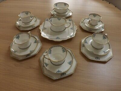 Paragon Star Bristol Ptn Art Deco Cups And Saucers • 20£