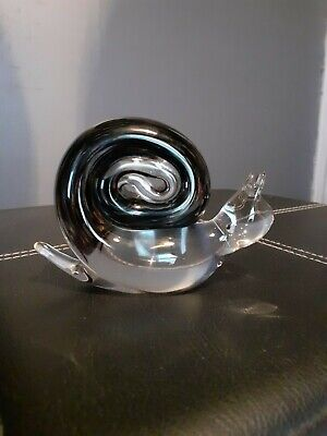 Wedgwood Glass Snail Paperweight • 15.50£