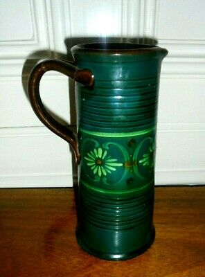 Watcombe (Torquay): 1952 Jug Hand Made Lovely Hand Painted Green Floral Design • 14.99£