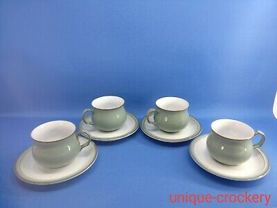 4 X Denby – Regency Green – Cups And Saucers • 16£