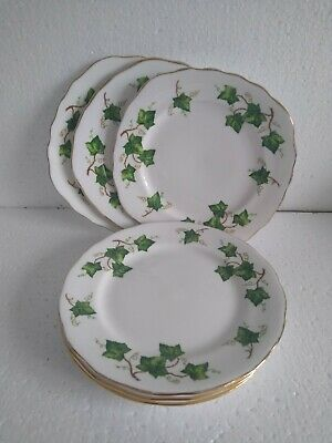 COLCLOUGH  IVY LEAF BREAD & BUTTER/CAKE PLATES X 6, Round And Square Shaped • 8£