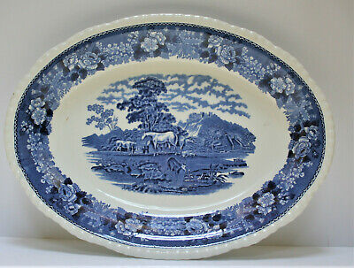 Adams English Scenic - Blue Colourway - Large Platter - Excellant Condition • 19.99£