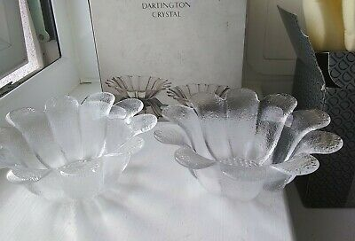 Pair Of Dartington Crystal Daisy Dishes, Multiple Use, Crystal Dishes. Devon • 13.05£