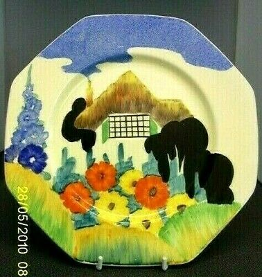Clarice Cliff  Stunning Rare  Octagonal 9 Inch Plate  'tralee'  Pattern 1935 • 245£