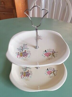 Beswick  Dancing Days  Two Tier Cake Stand Vintage • 25£