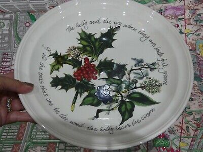 Portmeirion The Holly And The Ivy Christmas Dinner Plate • 5£