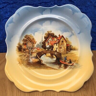 Rare Vintage LANCASTER & SONS, 'The Jolly Boatman' 7.75' Cake Stand C.1920's VGC • 7.99£