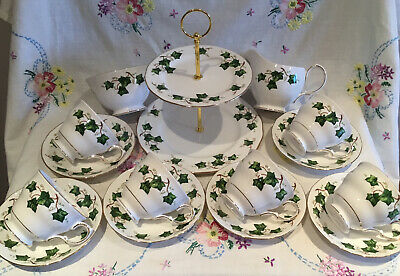 *superb Vintage Colclough Ivy 🎄 Christmas Tea Set With Cake Stand* • 29.99£