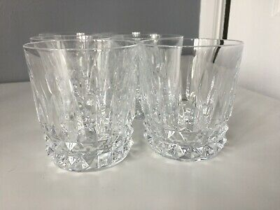6 X Crystal Glass Whiskey Tumblers - Good Condition • 12£