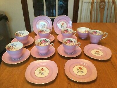 Vintage Cup Saucer & Side Plate Floral Bone China Crown Staffordshire England • 65£