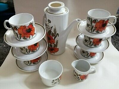 15 Peice J&G Meakin Studio Coffee Set Poppy Design • 18£