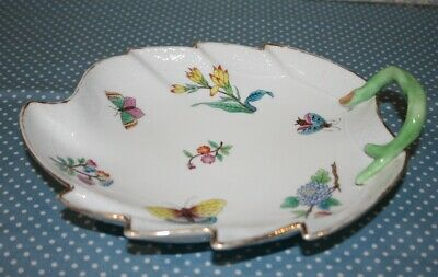 Vintage / Antique Herend Leaf Dish Small Chip And Slight Hairline • 32£