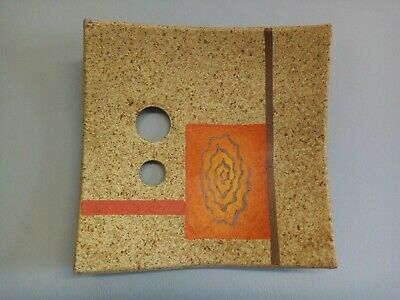 Art Pottery Wall Plaque 60s 70s • 12£