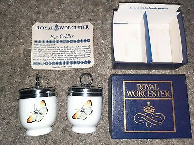 Royal Worcester Pair Of Small Egg Coddlers Strawberry Fair • 10£