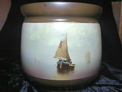 Impressive And Nicely Executed Antique Very Large Bretby Sail Boat Yacht Planter • 40£