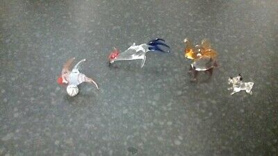 Group Of4 Small Glass Animals • 10£