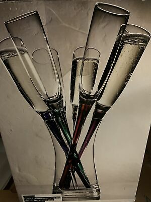 Large Handblown Champagne/Wine Flute Bouquet By Artland • 46.99£