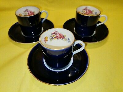 Aynsley  3 Cups And Saucers  • 19£