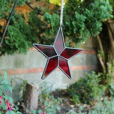 Stained Glass Star Suncatcher Or Christmas Decoration • 15£