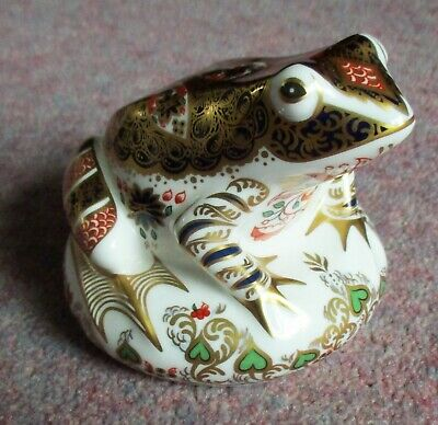 Royal Crown Derby Paperweight, Old Imari Frog, 904 Of 4500, Signed By Sue Rowe. • 59£