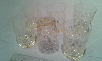 6x ROYAL BRIERLEY CUT GLASS WHISKY TUMBLERS. IMMACULATE - DISPLAYED - NEVER USED • 34.95£