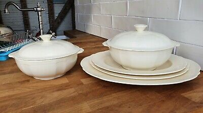 Alfred Meakin Pottery 1930's Serving Plate Set & Two Terrine  • 50£
