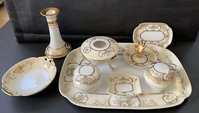 Noritake Dressing Table Set -  Made In Japan / Japanese - With Wear To Detail • 19.99£