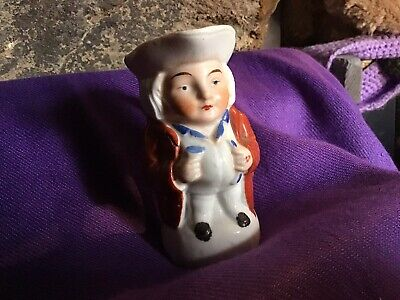 "Vintage Small China Painted Toby Jug Miniature 3.5""high • 5.50£"